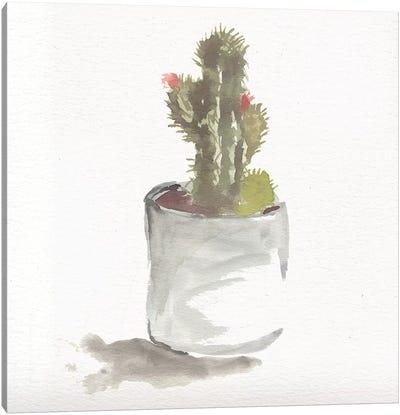 Watercolor Cactus Still Life II Canvas Art Print