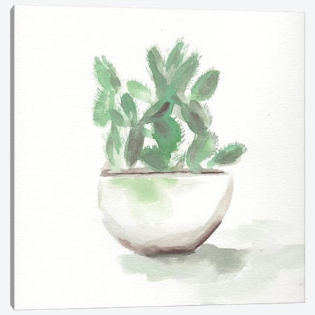 Watercolor Cactus Still Life III Canvas Print #CHP21} by Marcy Chapman Canvas Wall Art