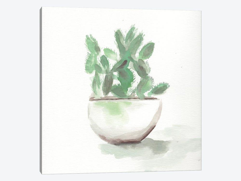 Watercolor Cactus Still Life III by Marcy Chapman 1-piece Canvas Artwork