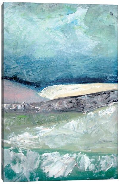 Blush Pink Mountainscape II Canvas Art Print