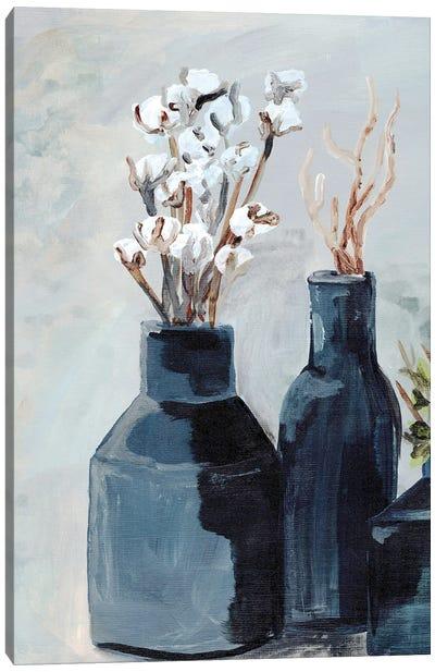 Cotton Jar In Navy Canvas Art Print