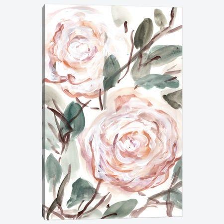 Farmhouse Bush Coral Pink I Canvas Print #CHP27} by Marcy Chapman Canvas Print