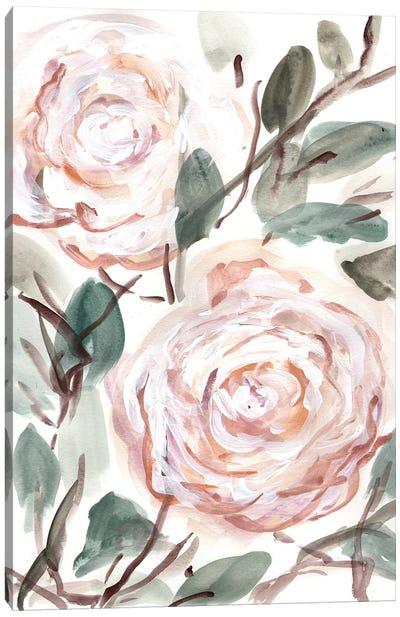 Farmhouse Bush Coral Pink I Canvas Art Print