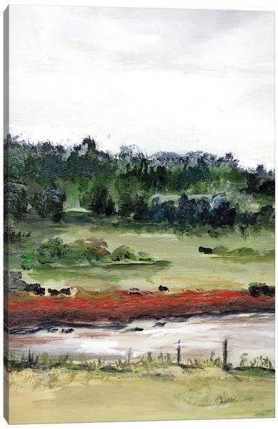 Farmhouse Fields I Canvas Art Print