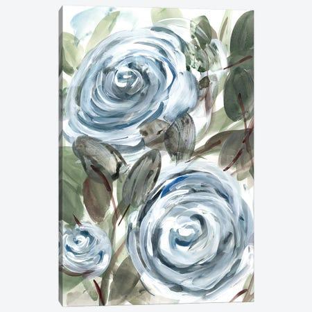 Farmhouse Rose Blue I Canvas Print #CHP34} by Marcy Chapman Canvas Art