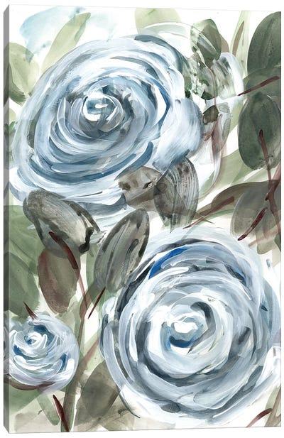 Farmhouse Rose Blue I Canvas Art Print