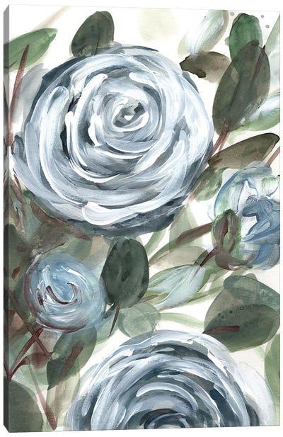 Farmhouse Rose Blue II Canvas Art Print