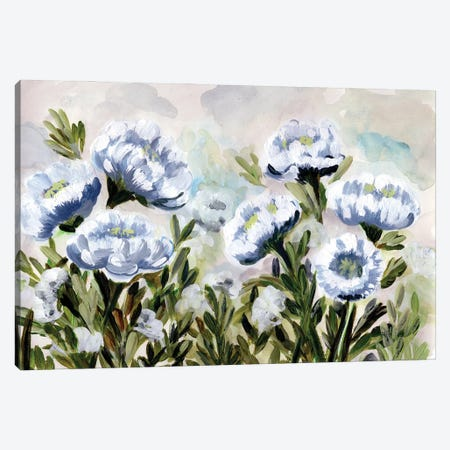 Popping For Blue Canvas Print #CHP41} by Marcy Chapman Canvas Art