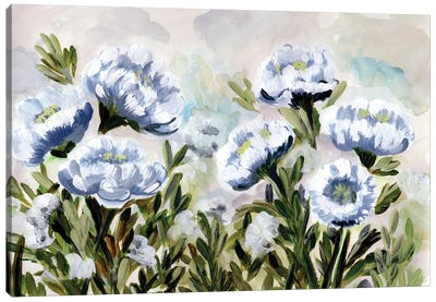 Popping For Blue Canvas Art Print