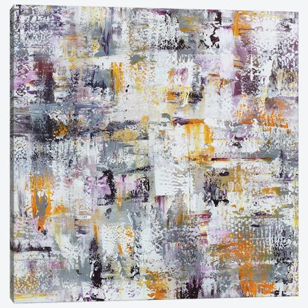 Gold Purple Grey Abstract Canvas Print #CHP6} by Marcy Chapman Art Print