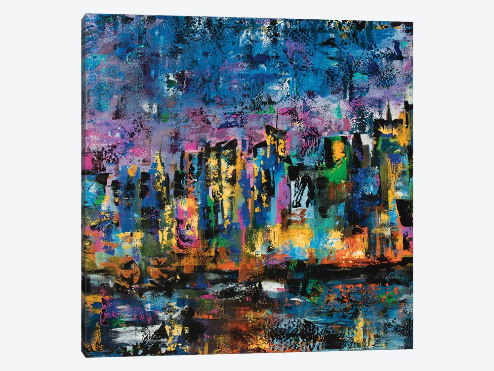 New York Abstract by Marcy Chapman 1-piece Canvas Art Print