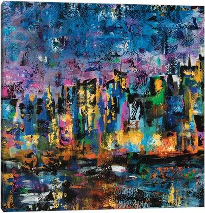 New York Abstract Canvas Art Print
