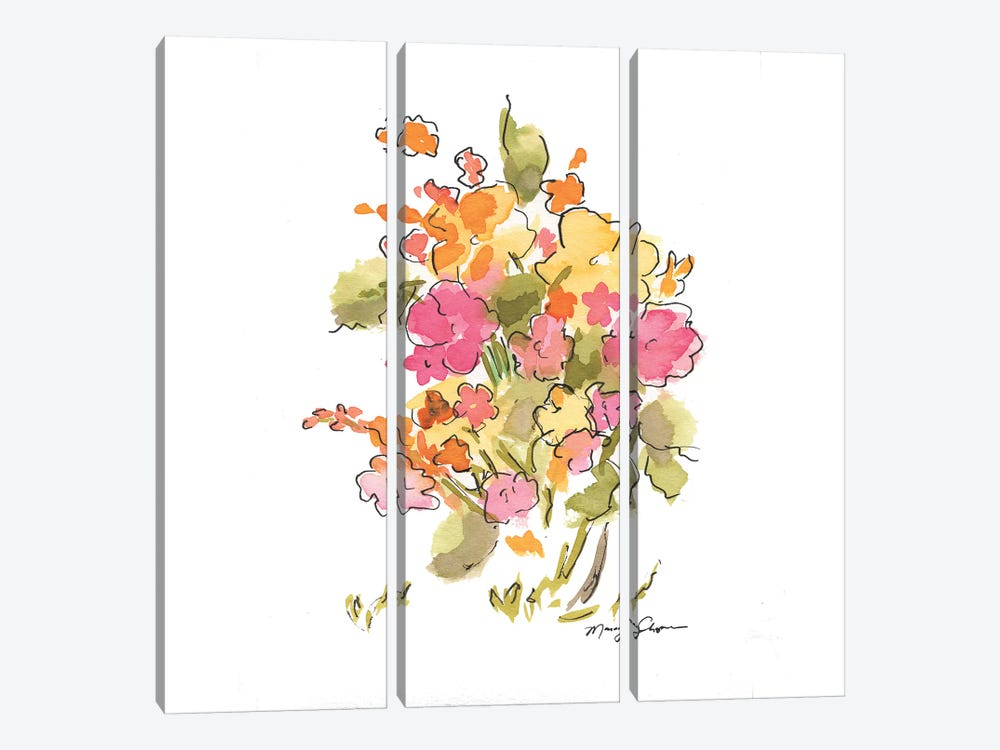 Springtime by Marcy Chapman 3-piece Canvas Print