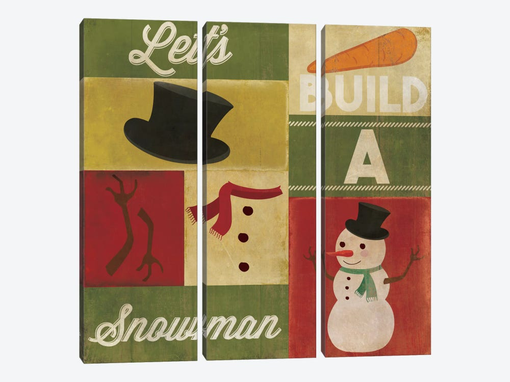 A Winter Tradition by 5by5collective 3-piece Canvas Artwork