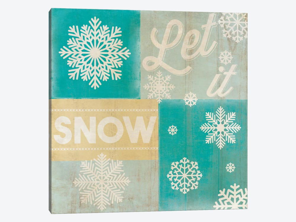 Hoping For A Snow Day by 5by5collective 1-piece Canvas Art Print
