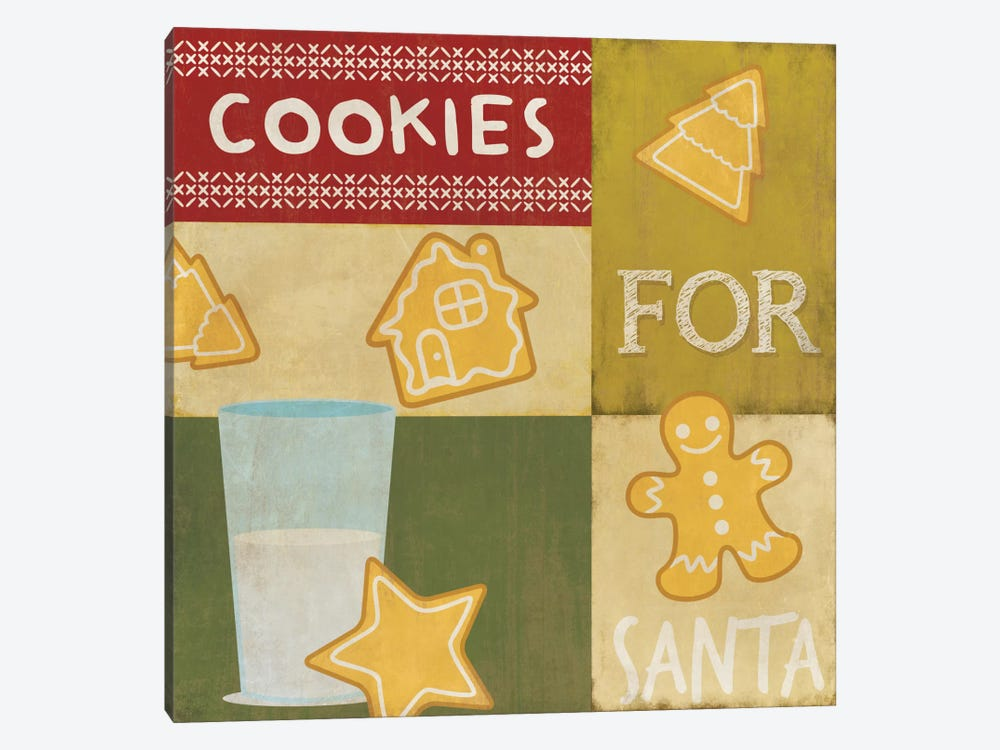 Keeping Santa Fat by 5by5collective 1-piece Canvas Artwork