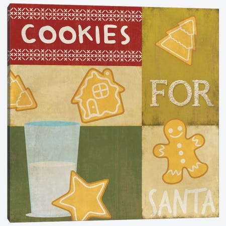 Keeping Santa Fat Canvas Print #CHR6} by 5by5collective Canvas Art Print