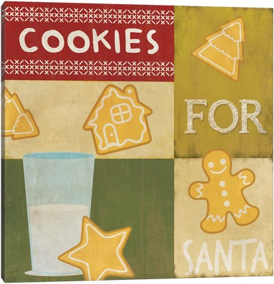 Keeping Santa Fat Canvas Art Print