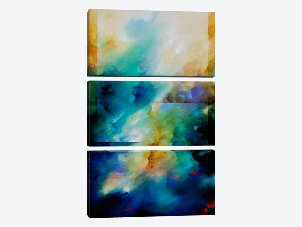 Aqua Breeze by CH Studios 3-piece Canvas Wall Art