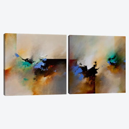Clouds Connected Diptych Canvas Print Set #CHS2HSET001} by CH Studios Canvas Artwork