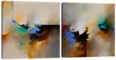 Clouds Connected Diptych Canvas Art Print
