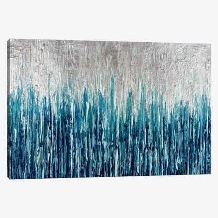Silver Showers Canvas Print #CHU16} by Nikki Chauhan Art Print