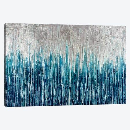 Silver Showers Canvas Print #CHU16} by Nikki Chauhan Art Print