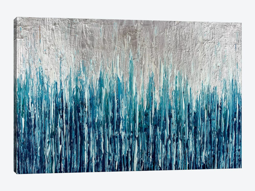 Silver Showers by Nikki Chauhan 1-piece Canvas Artwork