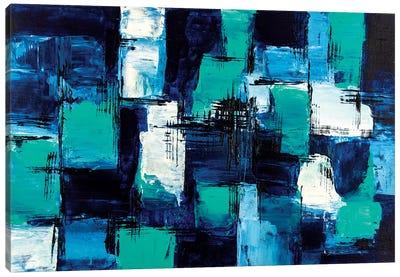 Blue & Teal Canvas Art Print