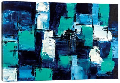 Blue & Teal Canvas Art Print