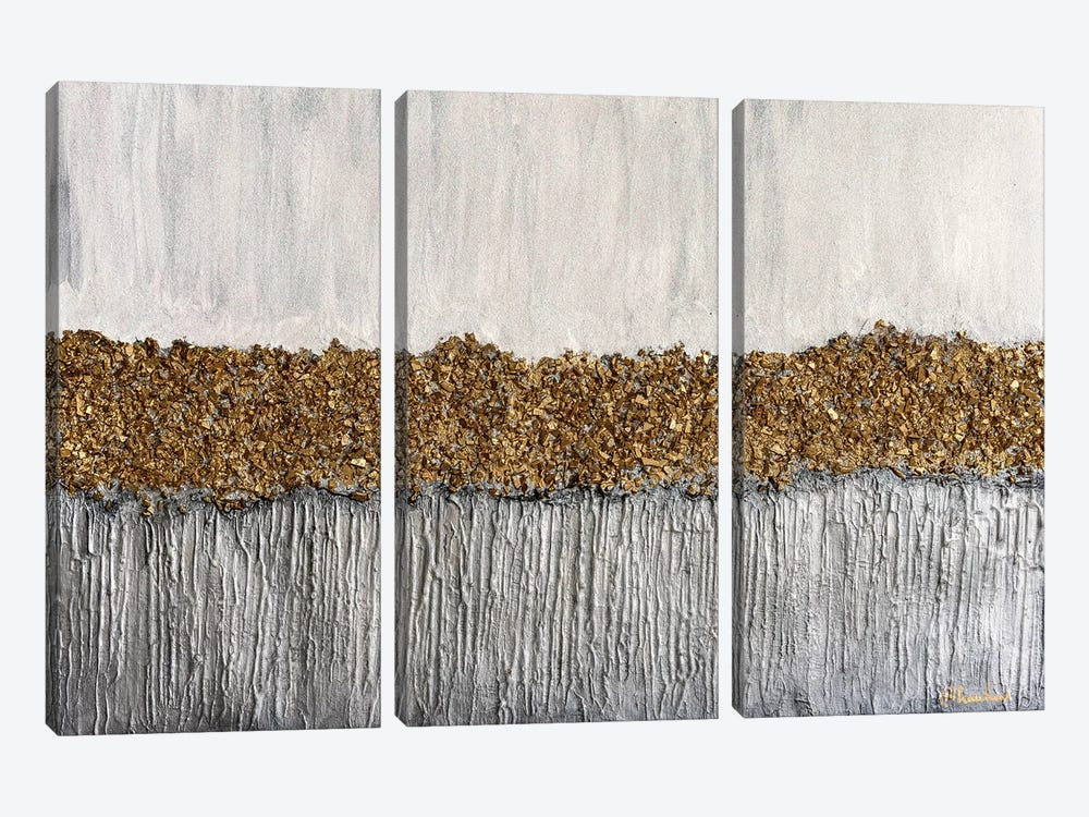 Golden Formation by Nikki Chauhan 3-piece Canvas Art
