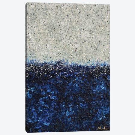 Silver Sapphire Canvas Print #CHU37} by Nikki Chauhan Art Print