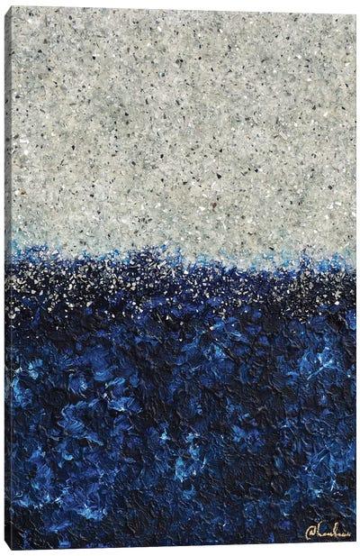 Silver Sapphire Canvas Art Print