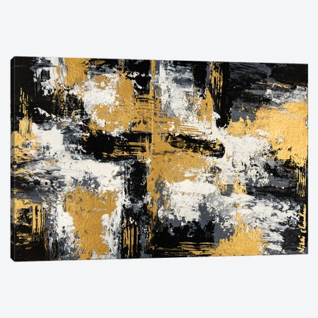 Black & Gold II Canvas Print #CHU3} by Nikki Chauhan Canvas Print
