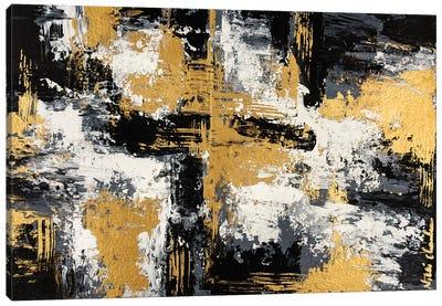 Black & Gold II Canvas Art Print