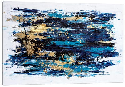 Blue Tide Canvas Art Print
