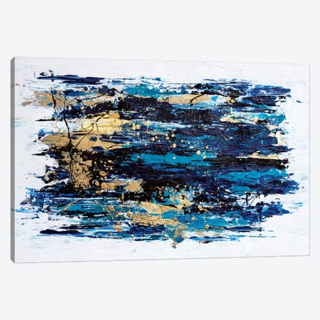 Blue Tide Canvas Print #CHU4} by Nikki Chauhan Canvas Artwork