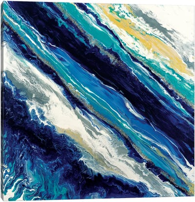 Blue Waves Canvas Art Print