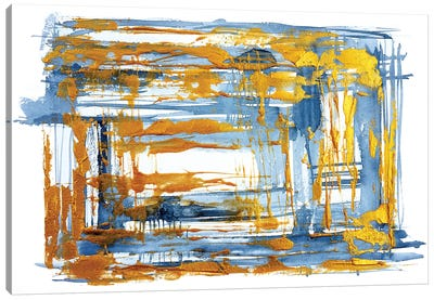 Freezing Gold Canvas Art Print