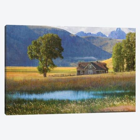 Miller House Grand Tetons Canvas Print #CHV14} by Christopher Vest Canvas Art