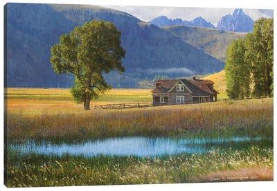 Miller House Grand Tetons Canvas Art Print