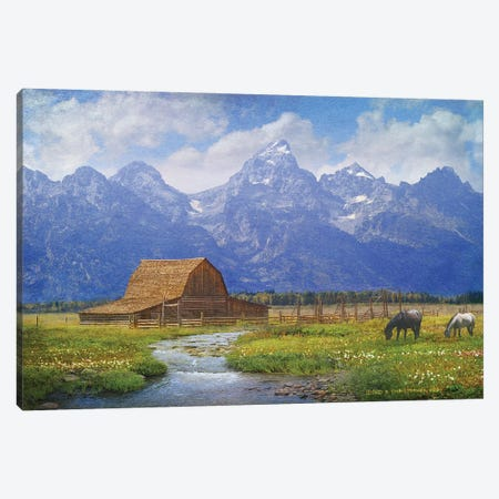 Moulton Barn Canvas Print #CHV15} by Christopher Vest Canvas Wall Art