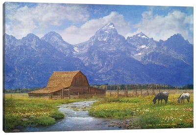 Moulton Barn Canvas Art Print