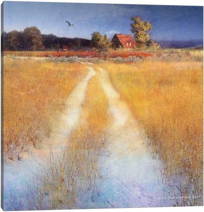 Yellow Road Canvas Art Print