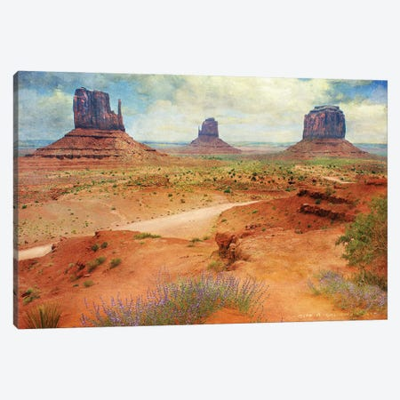 Golden Road I Canvas Print #CHV22} by Christopher Vest Canvas Art