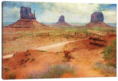 Golden Road I Canvas Art Print