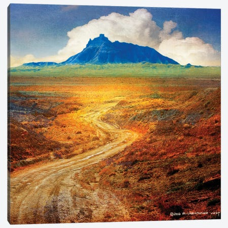 Golden Road II Canvas Print #CHV23} by Christopher Vest Canvas Wall Art