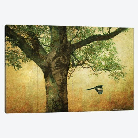 Goldleaf Big Tree Canvas Print #CHV37} by Christopher Vest Canvas Artwork