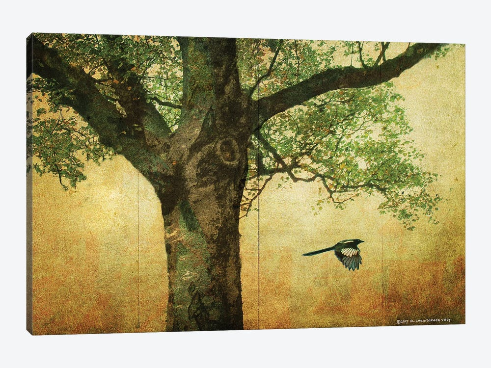 Goldleaf Big Tree by Christopher Vest 1-piece Canvas Print