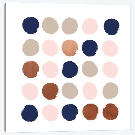 Skadi Dots Canvas Print #CHW101} by Charlotte Winter Art Print